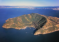 aerial photograph Angel Island Marin County, California
