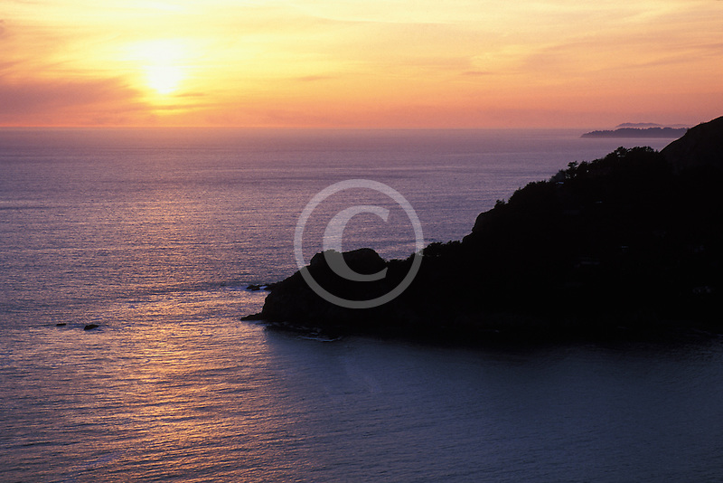 California, Marin County, Muir Beach, Sunset