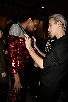 Christian Cowan 10/02/2018<br /> Paker Kithill and Christian Cowan<br /> Backstage, New York Fashion Week FW18 <br /> <br /> New York Fashion Week,  New York, USA in February 2018.<br /> CAP/GOL<br /> &copy;GOL/Capital Pictures