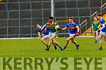 Terry Sparlin St Brendans is chased by Darragh reen and Conor Horan Tralee CBS during   the Corn Uí Mhuire final in Fitzgerald Stadium on Saturday