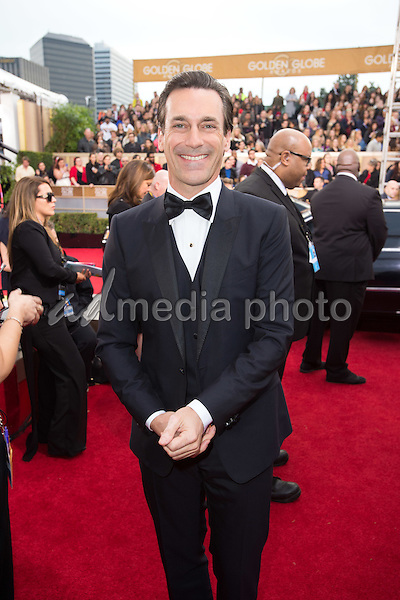 "Jon Hamm, Golden Globe Nominee for BEST PERFORMANCE BY AN ACTOR IN A TELEVISION SERIES - DRAMA for ""Mad Men"", arrives at the 73rd Annual Golden Globe Awards at the Beverly Hilton in Beverly Hills, CA on Sunday, January 10, 2016. Photo Credit: HFPA/AdMedia"