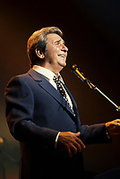 1994 File photo, <br /> French singer Gilbert Becaud at Montreal's Francofolies 1994<br /> Photo :  Images Distribution