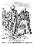 """The Claim Of Humanity. Lenin. """"Ah! So you have come in response to my appeal, to save The Soviet Republic?"""" Charity. """"No; I have come to save its victims - and in spite of your appeal."""" (Lenin holds an appeal 'TO THE WORLD'S PROLETARIAT - I appeal to you who are oppressed by CAPITAL and IMPERIALISM to send help to your fellow victims, and save the SOVIET REPUBLIC!)"""