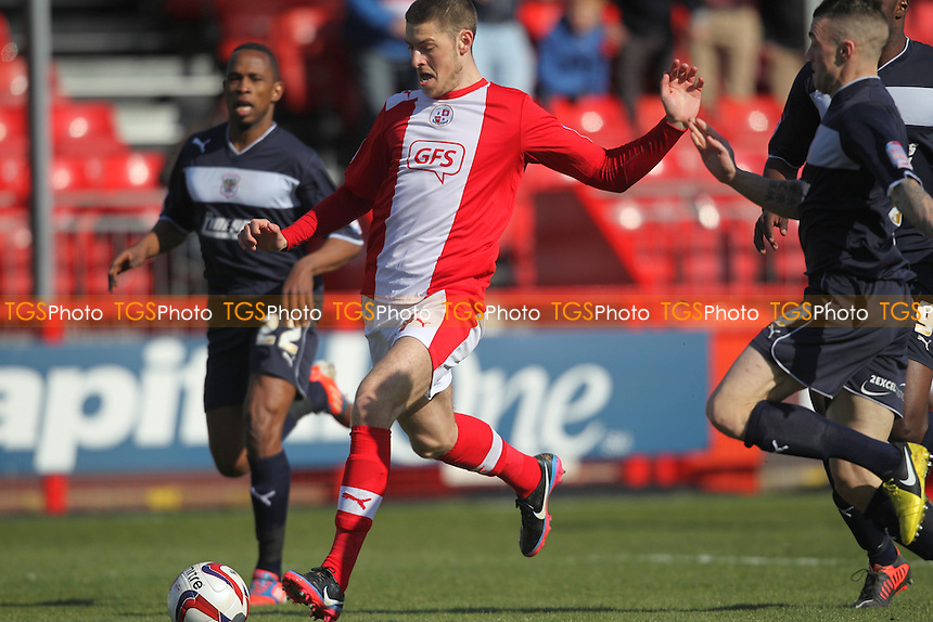 Jamie Proctor of Crawley Town Takes an early shot - Crawley Town vs Stevenage - NPower League One Football at the Broadfield Stadium, Crawley, West Sussex - 29/03/13 - MANDATORY CREDIT: Simon Roe/TGSPHOTO - Self billing applies where appropriate - 0845 094 6026 - contact@tgsphoto.co.uk - NO UNPAID USE