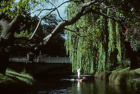 Punting on the Avon River in Christchurch, New Zealand in 1995