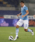 Calcio, Serie A: Lazio vs Palermo. Roma, stadio Olimpico, 2 settembre 2012..Lazio forward Miroslav Klose, of Germany, in action during the Italian Serie A football match between Lazio and Palermo at Rome's Olympic stadium, 2 September 2012..UPDATE IMAGES PRESS/Riccardo De Luca