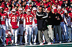 University of Wisconsin head coach Barry Alvarez during the Michigan State game at Camp Randall Stadium, Madison, Wisconsin on 10/27/01. Michigan State beat Wisconsin 42-28. (Photo by David Stluka)