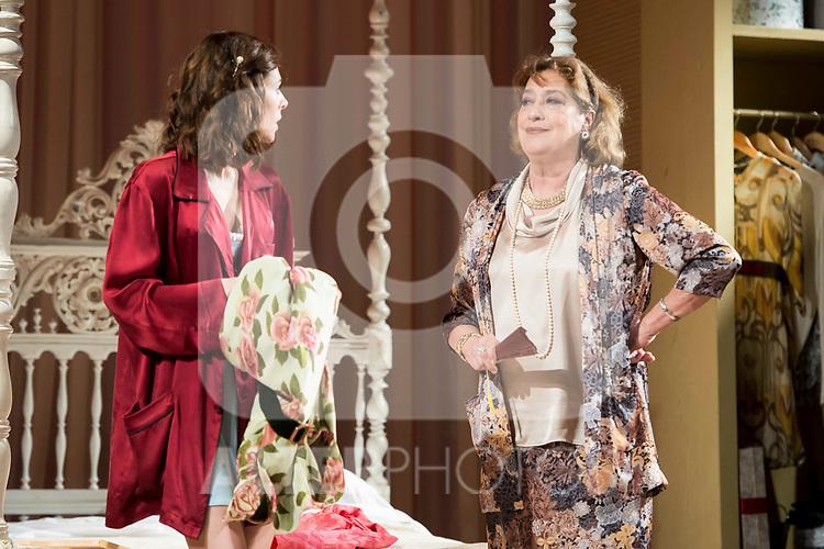 "Begoña Maestre and Ana Marzoa during theater play of ""Una gata sobre un tejado de Cinc caliente"" at Reina Victoria theater in Madrid, Spain. March 15, 2017. (ALTERPHOTOS/BorjaB.Hojas)"