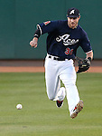 Reno Aces' Todd Glaesmann makes a play against the Las Vegas 51s in Reno, Nev., on Sunday, July 26, 2015.<br /> Photo by Cathleen Allison