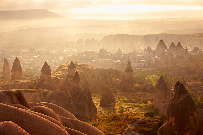 Goreme at sunrise Cappadocia Turkey