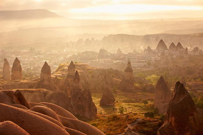 Goreme at sunrise Cappadocia Turkey