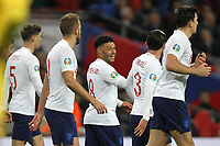 England celebrate after Alex Oxlade-Chamberlain (C) scored to make it 1-0 during the UEFA Euro 2020 Qualifying Group A match between England and Montenegro at Wembley Stadium on November 14th 2019 in London, England. (Photo by Matt Bradshaw/phcimages.com)<br /> Foto PHC Images / Insidefoto <br /> ITALY ONLY