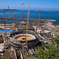Obras de construçao da usina nuclear Angra 3. Angra dos Reis. Rio de Janeiro. 2012. Foto de Ricardo Funari.