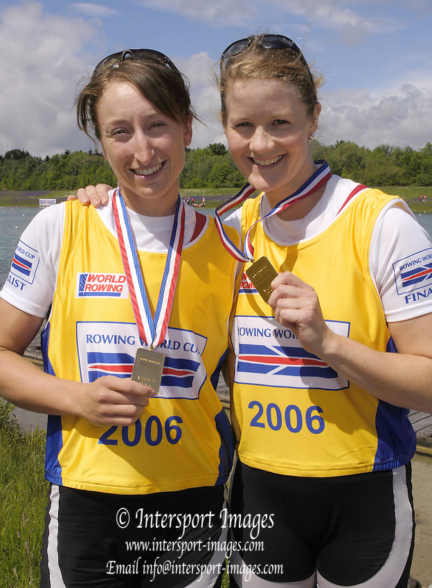 Munich, GERMANY, CAN W2- right, Darcey Marquart and Jane Rumball, 2006, FISA, Rowing, World Cup, on the Olympic Regatta Course, Munich,Sat.  27.05.2006. © Peter Spurrier/Intersport-images.com,  / Mobile +44 [0] 7973 819 551 / email images@intersport-images.com.[Mandatory Credit, Peter Spurier/ Intersport Images] Rowing Course, Olympic Regatta Rowing Course, Munich, GERMANY