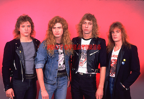 Megadeth 1986 Chris Poland, Dave Mustaine, Chris Poland, Gar Samuelson and David Ellefson.© Chris Walter