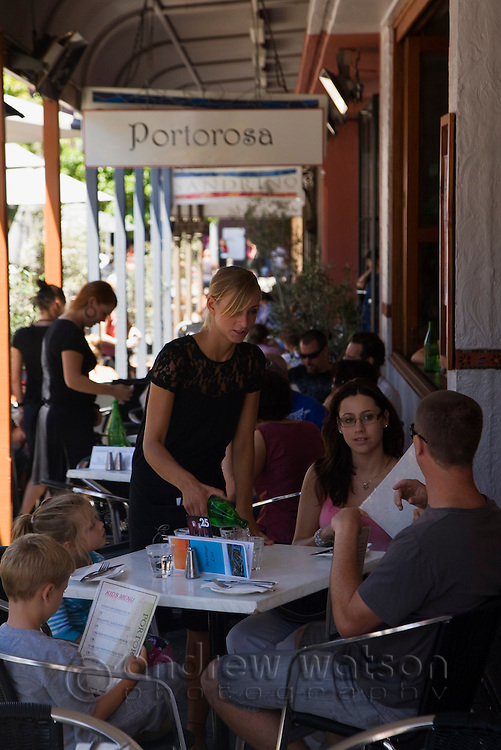Cafe culture on South Terrace in the port town of Fremantle, Western Australia, AUSTRALIA.