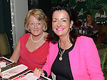 Jean Strong and Olive Maxwell at the Pink Santa lunch in the Westcourt hotel. Photo:Colin Bell/pressphotos.ie