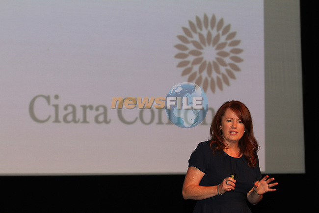 """Ciara Conlon, authur of """"Chaos to Control""""  speaking at The Network Ireland National Conference and Business Women of the Year Awards 2012 - Friday 28th September in Drogheda, Co. Louth..Photo NEWSFILE/Jenny Matthews."""