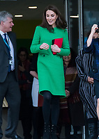 Catherine Duchess of Cambridge visits Alperton Community School in London in support of Place 2 Be's Children's Mental Health Week in London, England, UK on February 05, 2019. <br /> CAP/JOR<br /> ©JOR/Capital Pictures