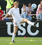 09 December 2007: USC's Janessa Currier. The University of Southern California Trojans defeated the Florida State University Seminoles 2-0 at the Aggie Soccer Stadium in College Station, Texas in the NCAA Division I Womens College Cup championship game.