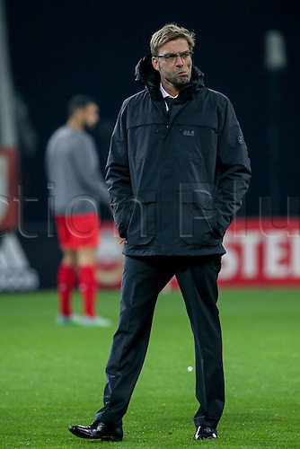 18.02.2016. Augsburg, Germany. UEFA Europa League football. Augsburg versus Liverpool FC.   Trainer Juergen Klopp (FC Liverpool)