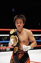 Tomonobu Shimizu (JPN), AUGUST 31, 2011 - Boxing : Tomonobu Shimizu of Japan poses with his champion belt after winning the WBA super flyweight title bout at Nippon Budokan in Tokyo, Japan. (Photo by Mikio Nakai/AFLO)