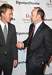 Edward Norton & Kevin Spacey.attending The Signature Theatre Center Opening Gala Celebration honoring Edward Norton in New York City on 1/30/2012..