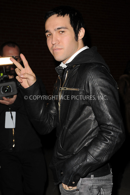WWW.ACEPIXS.COM . . . . . ....December 8 2009, New York City....Musician Pete Wentz arriving at the launch of VEVO, a new music and video website, at Skylight Studio on December 8, 2009 in New York City.....Please byline: KRISTIN CALLAHAN - ACEPIXS.COM.. . . . . . ..Ace Pictures, Inc:  ..tel: (212) 243 8787 or (646) 769 0430..e-mail: info@acepixs.com..web: http://www.acepixs.com