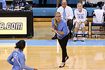 10 September 2015: UNC assistant coach Eve Rackham. The University of North Carolina Tar Heels hosted the Stanford University Cardinal at Carmichael Arena in Chapel Hill, NC in a 2015 NCAA Division I Women's Volleyball contest. North Carolina won the match 25-17, 27-25, 25-22.
