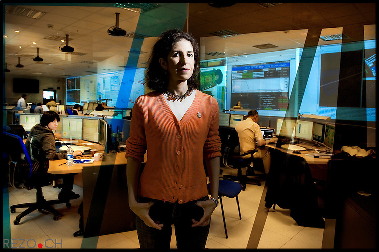 Fabiola Gianotti, the Italian particle physicist in charge of the ATLAS experiment at the Large Hadron Collider (LHC) at CERN in Switzerland. Geneva, 11.08.2010 © Fred Merz / Rezo.ch