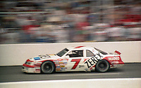 Alan Kulwicki 7 Ford action at the Southern 500 at Darlington Raceway in Darlington, SC in September 1988. (Photo by Brian Cleary/www.bcpix.com)