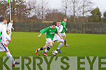 Kerry - Adam O'Rourke and Dublin DDSL - Craig Hanlon at the Kerry against DDSL in the Youths Cup at Mounthawk park on Sunday