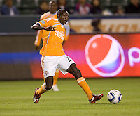 Houston Dynamo forward Dominic Oduro (23) passes off a ball. The Houston Dynamo defeated CD Chivas USA 2-0 at Home Depot Center stadium in Carson, California on Saturday May 8, 2010.  .