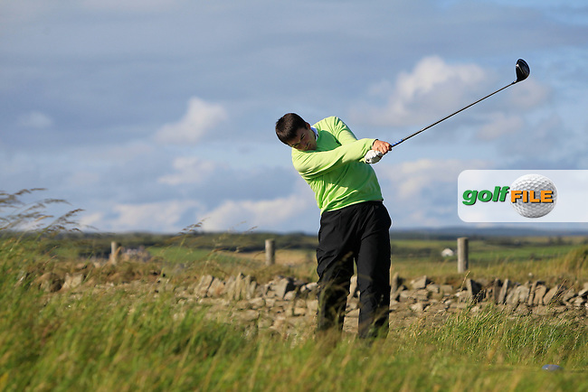 Steffan O'Hara (Co. Sligo) on the 17th tee during Round 1 of the South of Ireland Amateur Open Championship at LaHinch Golf Club on Wednesday 22nd July 2015.<br /> Picture:  Golffile | Thos Caffrey