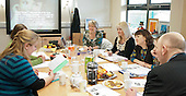 Carol Gray, the inventor of Social Stories, running a training workshop at a school for autistic kids in Surrey.