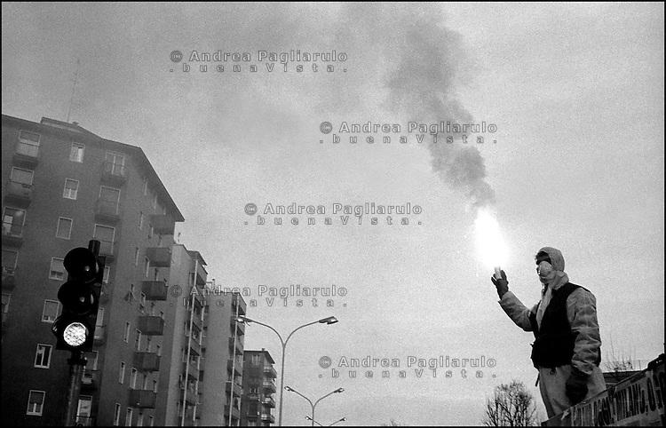 Milano, manifestazione centri sociali.<br /> Milan, squatter demonstration.