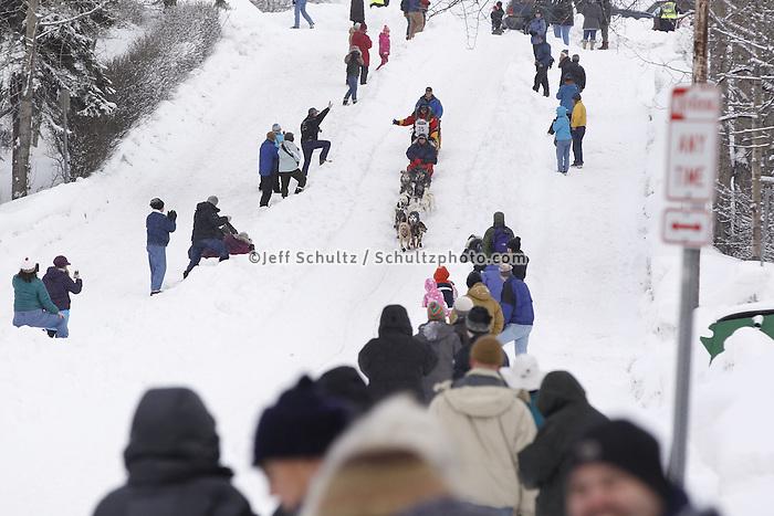 Mitch Seavey Saturday, March 3, 2012  Ceremonial Start of Iditarod 2012 in Anchorage, Alaska.