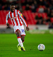 11th January 2020; Bet365 Stadium, Stoke, Staffordshire, England; English Championship Football, Stoke City versus Milwall FC; Bruno Martins Indi of Stoke City crosses the ball - Strictly Editorial Use Only. No use with unauthorized audio, video, data, fixture lists, club/league logos or 'live' services. Online in-match use limited to 120 images, no video emulation. No use in betting, games or single club/league/player publications