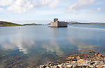 Kisimul castle dating from the sixteenth century and home of the MacNeil clan, Castlebay, Barra, Outer Hebrides, Scotland, UK