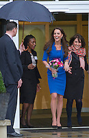 Kate, Duchess of Cambridge opens The ICAP Art Room at Northolt High School, - London