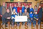 Presentation : Pictured at the presentation of a cheque for ?3,213.00, the proceeds of a Bikers Club Poker run around North Kerry on the 1st September to the North Kerry Eagles Sporting Club at Speedies Bar, Moyvane on Thursday night last. Front : Cathal Gormley,Bikers Club, Rebecca Keane, Beatrice Mahomy,Treasurer,  NK Eagle, Dominic Hunt, Bikers club, Martin O'Flaherty, Bikers club, Bronagh Enright & JP O'Brien. Back : Tim Mahony, Larry Keane, Michael Windle, Dan Flavin, Maura Halpin, Partick O'Flaherty, Kitty Windle, Gemma O'Brien & Breda Enright.