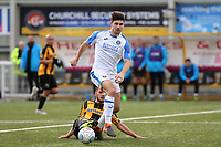 Andreas Robinson of Havant and Waterlooville eludes a tackle from Maidstone's Aron Davies during Maidstone United vs Havant and Waterlooville, Vanarama National League Football at the Gallagher Stadium on 9th March 2019