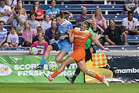 Bridgeview, IL - Saturday July 23, 2016:  Chicago Red Stars defender Arin Gilliland (3) and Houston Dash defender Cari Roccaro (5) during a regular season National Women's Soccer League (NWSL) match between the Chicago Red Stars and the Houston Dash at Toyota Park.