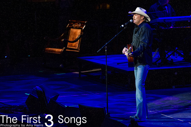 "Alan Jackson performs at the George Jones Tribute Concert ""Playin' Possum: The Final No Show"" at Bridgestone Arena in Nashville, TN"