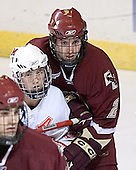 (Brian Boyle) Matt Davis, Anthony Aiello - The Boston College Eagles defeated the Miami University Redhawks 5-0 in their Northeast Regional Semi-Final matchup on Friday, March 24, 2006, at the DCU Center in Worcester, MA.