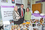 Pictured here at The AIB Branch in Cahersiveen on Friday last, business customers get a chance to show their goods, pictured l-r; Eileen Wheelon(Skellig Mist Bakery - Portmagee), Brian Gannon - Manager & Lois Wright.
