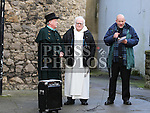 Frank Godfrey, Fr Jim Dunleavy and Rev Iain Jamieson at the Blessing of St Laurence's Gate.<br /> <br /> Photo - Jenny Matthews