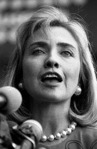 Hillary Clinton speaking at the Boston Children's Museum September 2, 1992