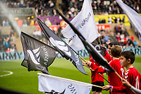 Sunday April 02 2017 <br /> Pictured: Guard of honour ahead of the game<br /> Re: Premier League match between Swansea City and Middlesbrough at The Liberty Stadium, Swansea, Wales, UK. SUnday 02 April 2017