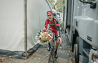 backstage the ceremony podium with Taylor Phinney (USA/BMC)<br /> <br /> 12th Eneco Tour 2016 (UCI World Tour)<br /> stage 5 (TTT) Sittard-Sittard (20.9km) / The Netherlands
